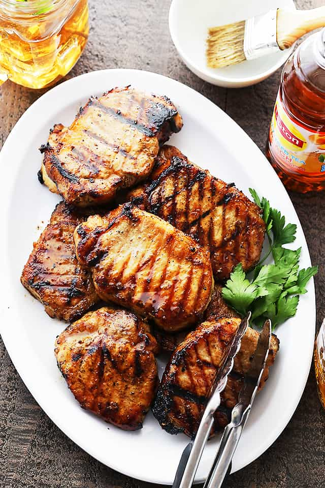 Honey Soy Grilled Pork Chops Incredibly Juicy Pork Chops Marinated In A Honey And Soy