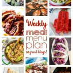 WEEKLY MEAL PLAN (WEEK 58) - 10 great bloggers bringing you a full week of recipes including dinner, side dishes, and desserts!