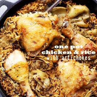 One Pot Chicken and Rice with Artichokes