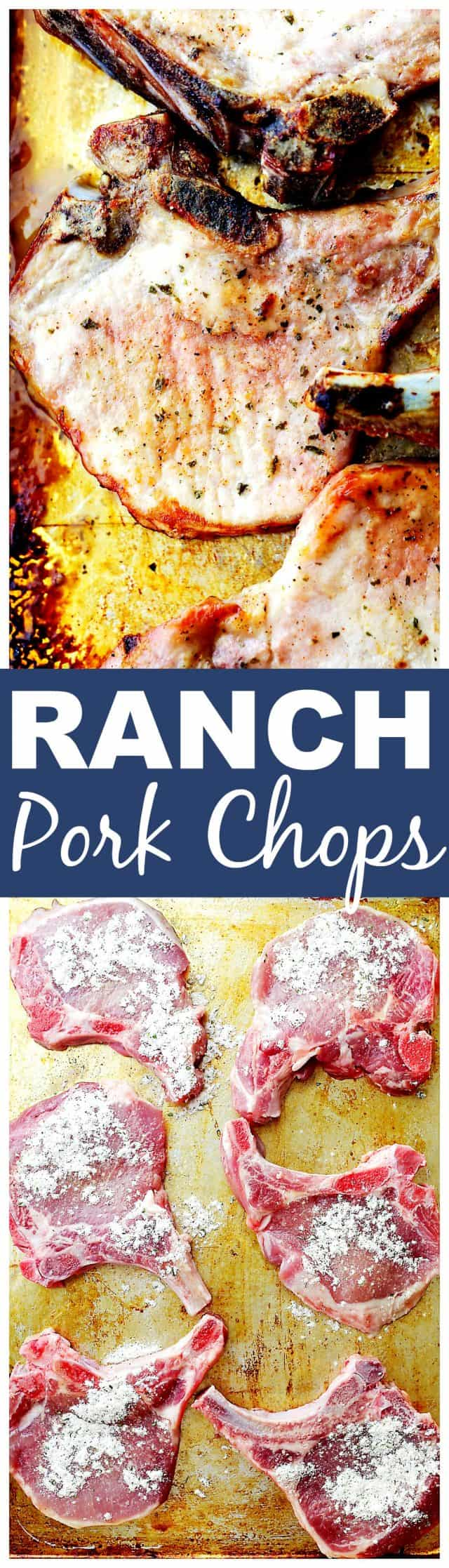 Ranch Pork Chops Recipe - Get flavorful pork chops with this surprising ranch dressing hack! Made with just a few simple ingredients, this quick and easy recipe will become your new favorite pork chops dinner!