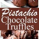 Salted Pistachio Dark Chocolate Truffles Recipe | Diethood