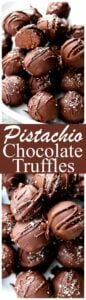 Salted Pistachio Dark Chocolate Truffles Recipe | Diethood
