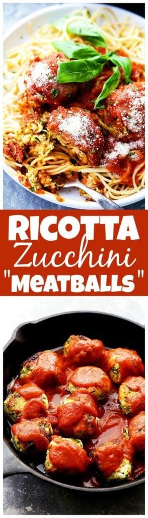 "Ricotta Zucchini ""Meatballs"" Recipe | Easy Vegetarian Meatballs"