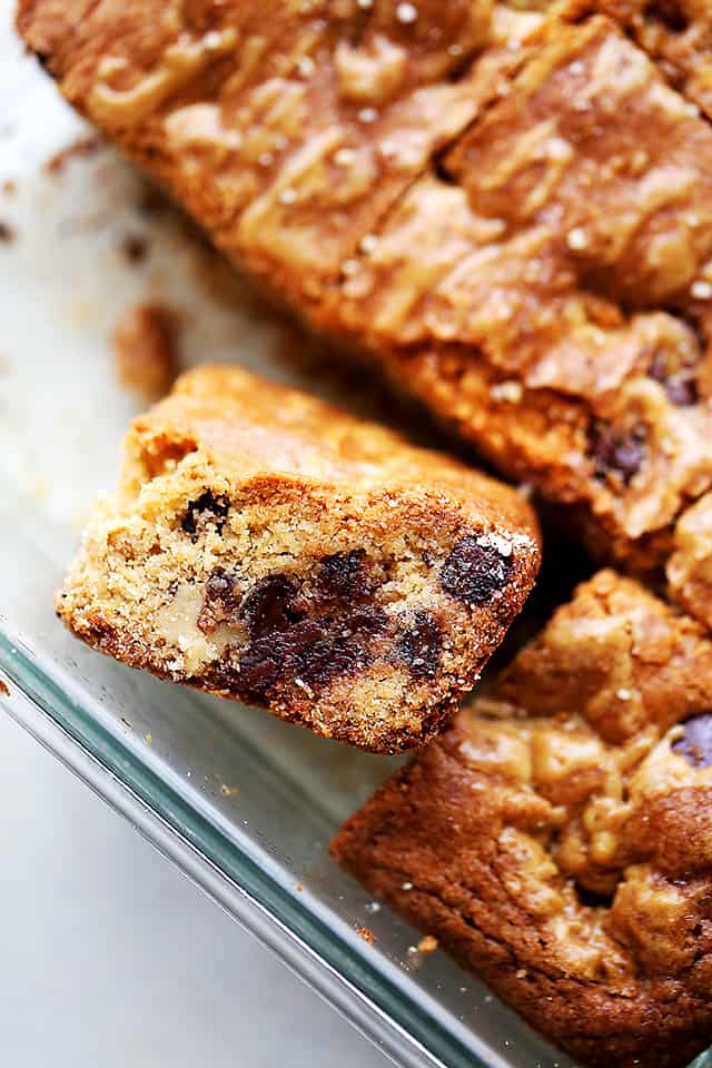 Chocolate Chip Cookie Bars (Chango Bars) - Irresistible, chewy, classic cookie bars loaded with chocolate chips and deliciousness! It's a recipe everyone will be asking for!