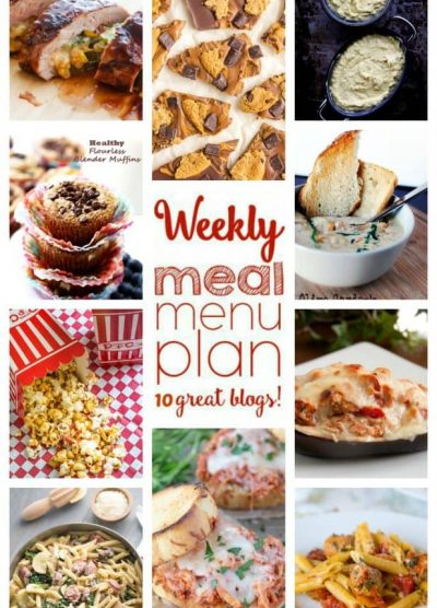 WEEKLY MEAL PLAN (WEEK 61) - 10 great bloggers bringing you a full week of recipes including dinner, side dishes, and desserts!