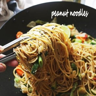 Garlic Peanut Noodles Recipe