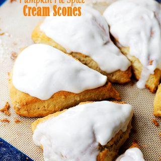 Pumpkin Pie Spice Cream Scones