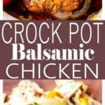 Crock Pot Balsamic Chicken Recipe | Weeknight Crock Pot Chicken Dinner