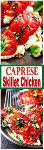 Caprese Skillet Chicken Recipe | Easy Pan Seared Chicken Breast Dinner