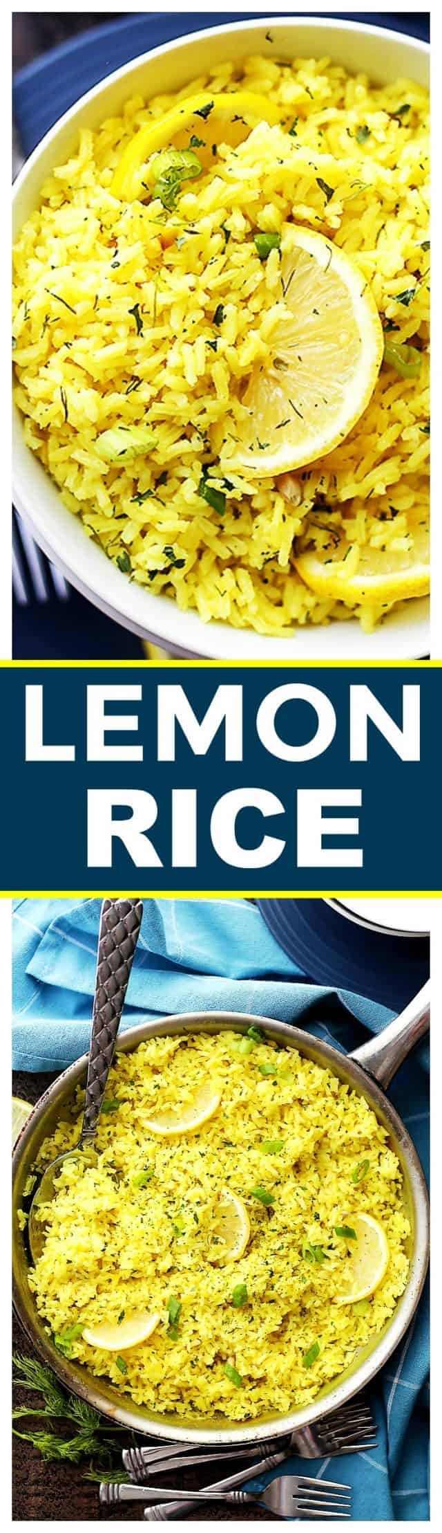 Lemon Rice Recipe - Bursting with lemon flavor, this is a delicious way to turn plain rice into an exotic dish, and it's the perfect accompaniment to any meats and/or veggies.
