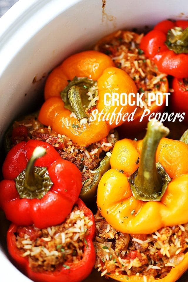 Stuffed Peppers In The Crock Pot