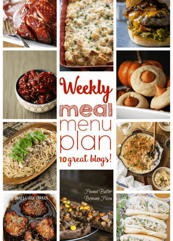 WEEKLY MEAL PLAN (WEEK 68) - 10 great bloggers bringing you a full week of recipes including dinner, sides dishes, and desserts!