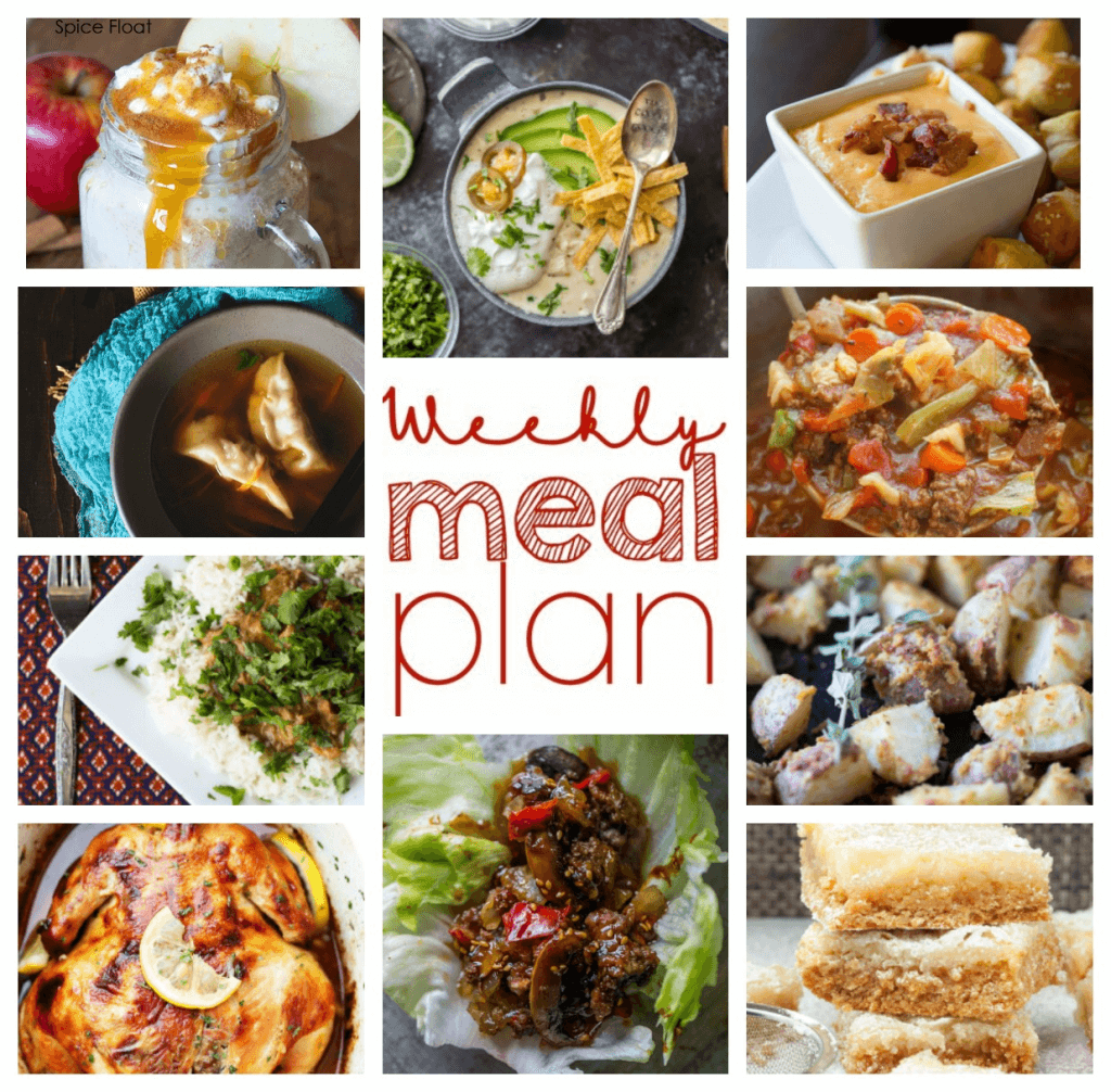 Square collage for Week 67 Meal Plan