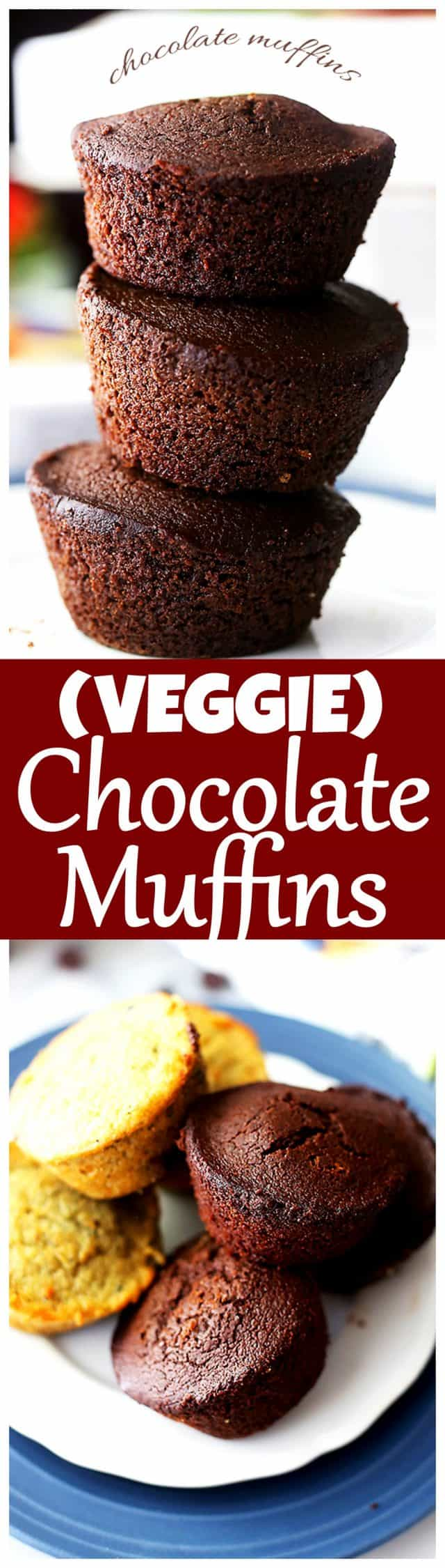 VEGGIE CHOCOLATE MUFFINS + more foods made with clean and simple ingredients! @Garden Lites #HookedOnVeggies #ad