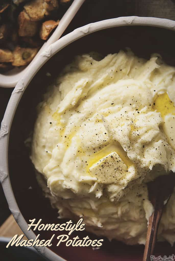 Homestyle Mashed Potatoes in a bowl