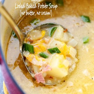 Lighter Loaded Baked Potato Soup + $50 SAM'S CLUB GIFT CARD GIVEAWAY!