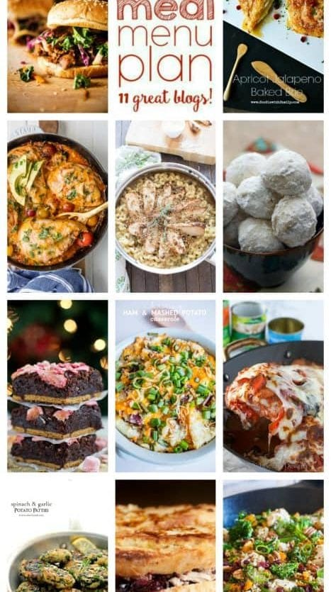 Weekly Meal Plan (Week 72) – 11 great bloggers bringing you a full week of recipes including dinner, sides dishes, and desserts!