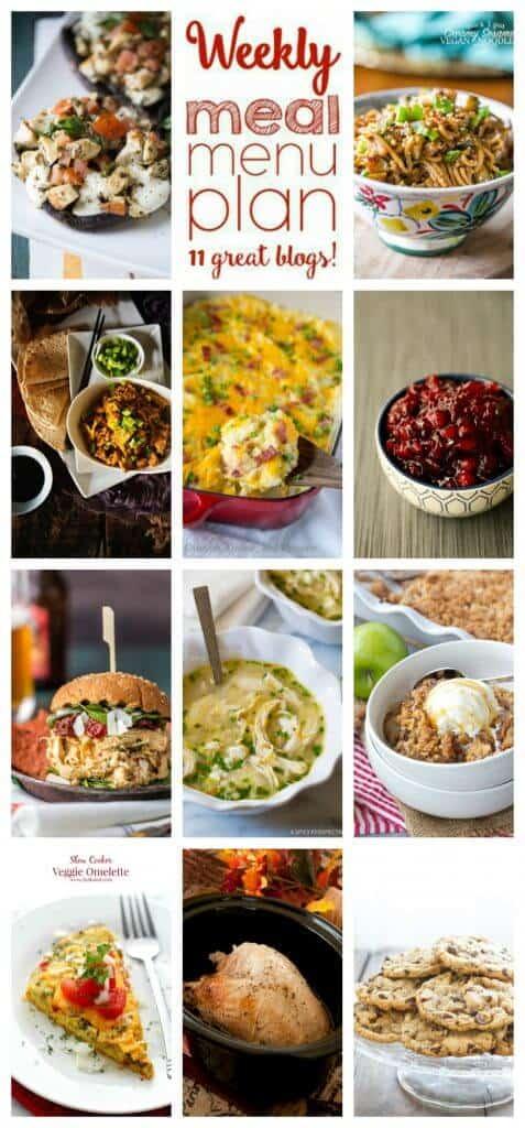 Week 70 Meal Plan collage