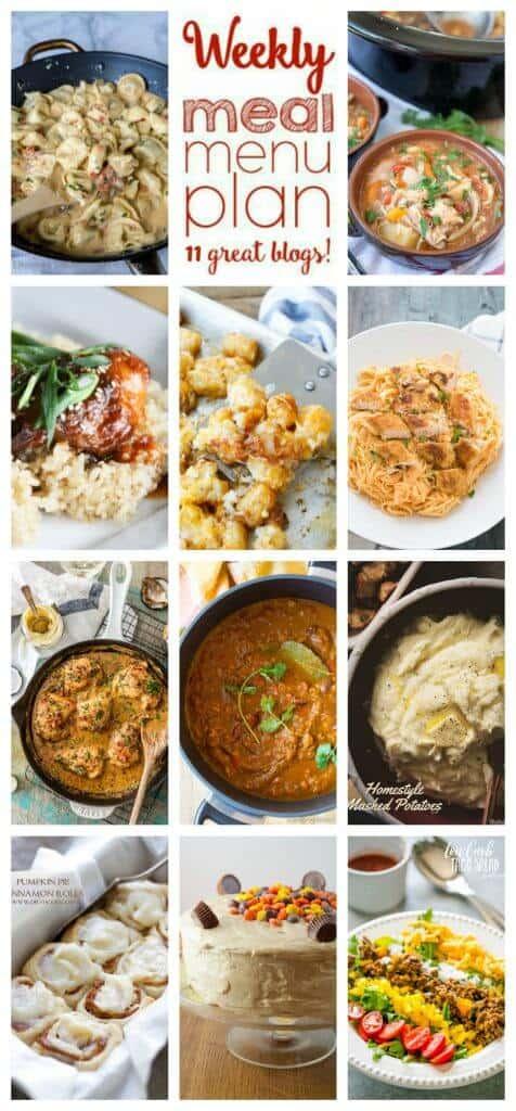 Week 69 Meal Plan collage
