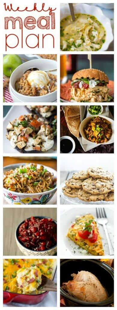 Pinterest Collage for Week 70 Meal Plan