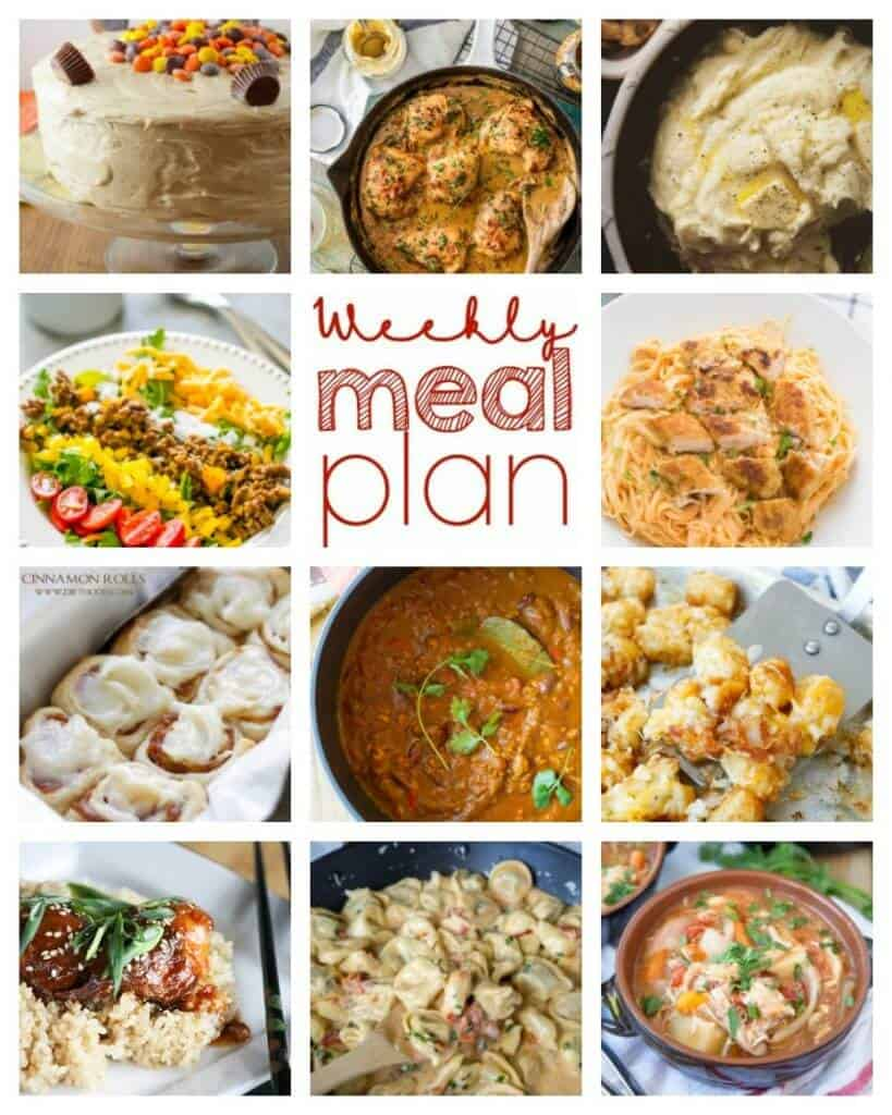 Square collage for Week 69 Meal Plan