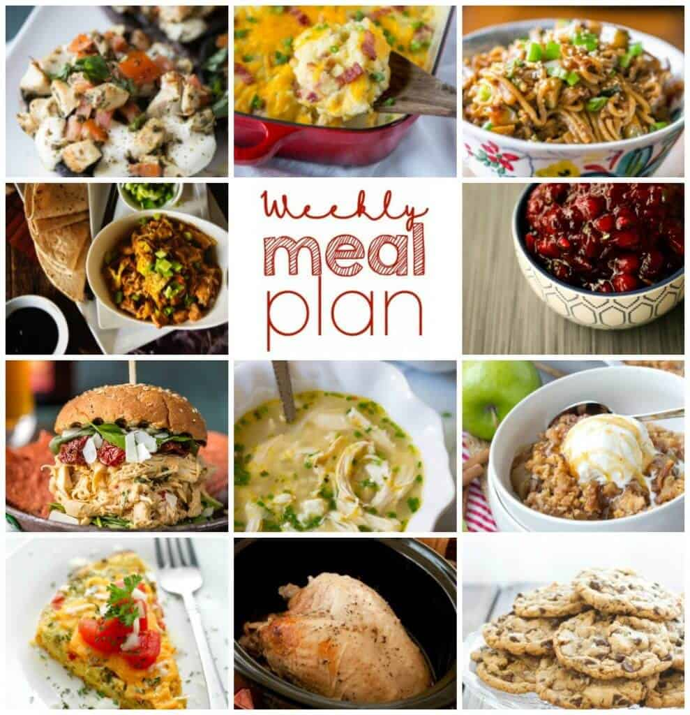 Square collage for Week 70 Meal Plan