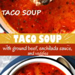taco soup two picture collage pin