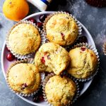 Cranberry Orange Corn Muffins - Traditional, homemade, orange-flavored cornbread muffins studded with fresh cranberries.