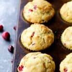 Cranberry Orange Cornbread Muffins