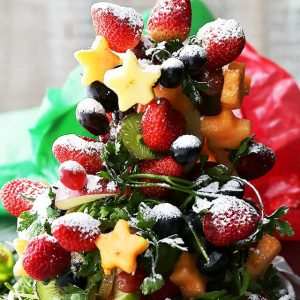 Fruit Christmas Tree - Beautiful and festive Christmas Tree made with fresh fruit!