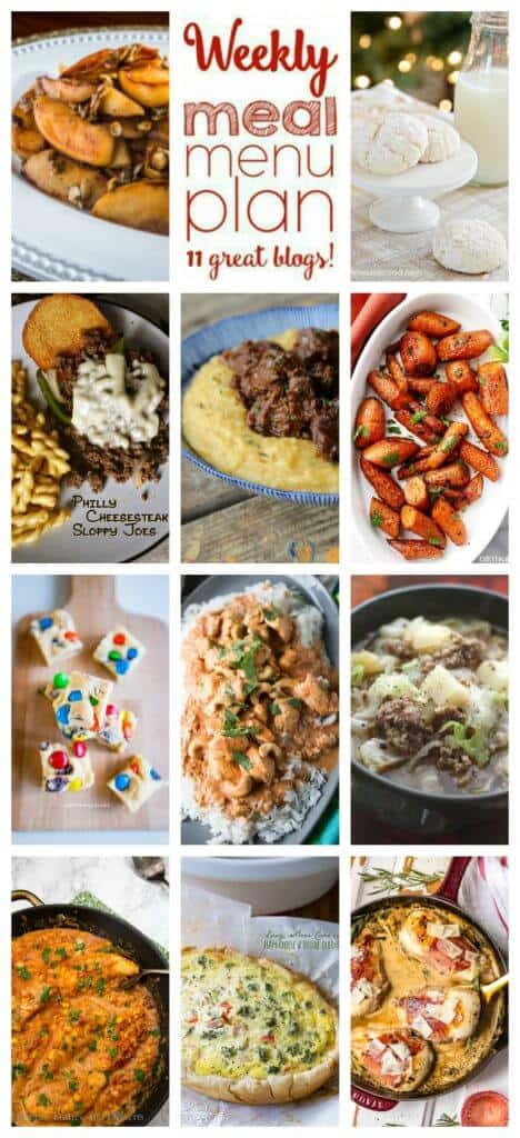 Collage for Week 73 Meal Plan