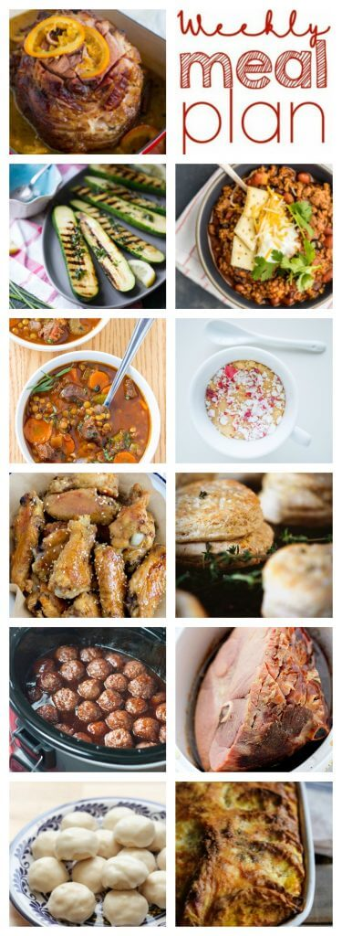 Pinterest image for Week 75 meal plan recipes