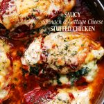 Saucy Spinach & Cottage Cheese Stuffed Chicken Recipe