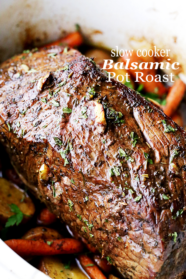 Crockpot Balsamic Pot Roast