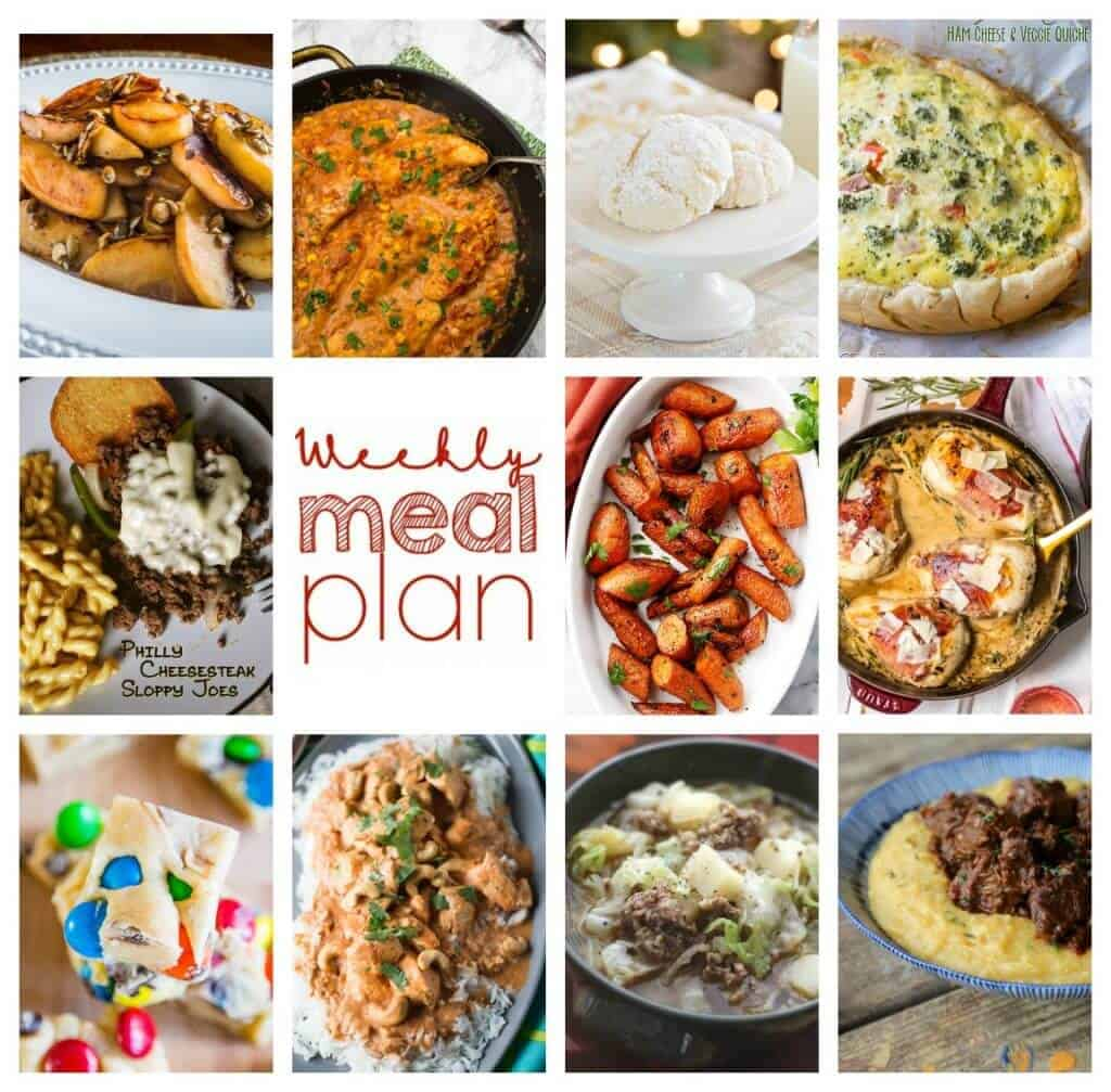 Square collage for Week 73 Meal Plan