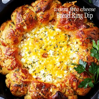 Warm Feta Cheese Bread Ring Dip