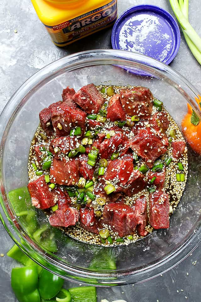 Asian Beef Skewers - A flavorful sweet-and-savory marinade lends an amazing flavor to these delicious beef skewers!