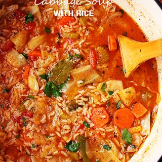 Cabbage Soup with Rice