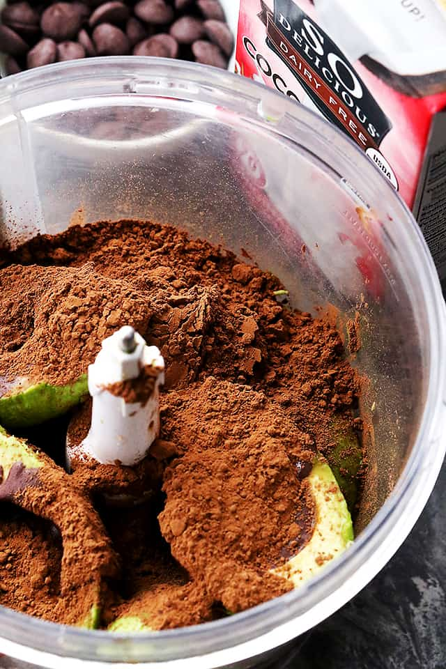 Avocado Chocolate Mousse - Egg-free, dairy-free, healthy, decadent and silky chocolate mousse made with avocados!