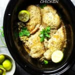 Crock Pot Garlic Lime Chicken | Slow Cooker Chicken Breasts Recipe