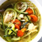 Instant Pot Chicken Zoodle Soup - Only 20 minutes to this amazing, healthy bowl of Chicken Zoodle Soup prepared in a pressure cooker!