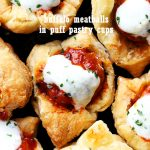 Buffalo Meatballs in Puff Pastry Cups
