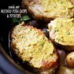 Crock Pot Mustard Pork Chops & Potatoes | Slow Cooker Pork Recipe