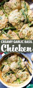 garlic basil chicken pin image