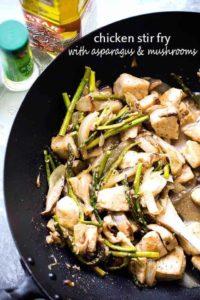 Chicken Stir Fry with Asparagus & Mushrooms | Easy Chicken Dinner Idea