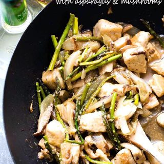 Chicken Stir Fry with Asparagus and Mushrooms