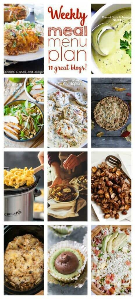 Title Image for Week 87 Meal Plan recipes