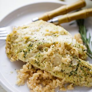 One Pan Risotto with Garlic Herb Tilapia + $100 Visa Gift Card Giveaway