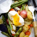 Spring Vegetables and Potatoes Baked in Parchment