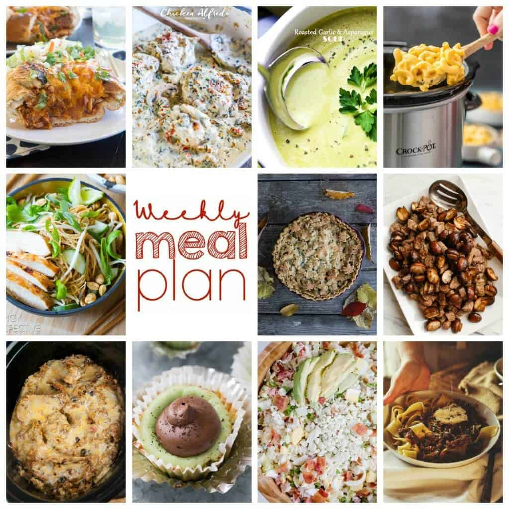Square Pinterest image for Week 87 meal plan recipes